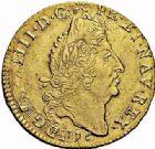 Photo numismatique  ARCHIVES VENTE 2015 -26-28 oct -Coll Jean Teitgen ATELIER ROYAL DE METZ LOUIS XIV (14 mai 1643-1er septembre 1715)  888- Louis d'or aux quatre L, Metz 1696.