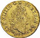Photo numismatique  ARCHIVES VENTE 2015 -26-28 oct -Coll Jean Teitgen ATELIER ROYAL DE METZ LOUIS XIV (14 mai 1643-1er septembre 1715)  889- 1/2 louis d'or aux quatre L, Metz 1694.