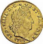 Photo numismatique  ARCHIVES VENTE 2015 -26-28 oct -Coll Jean Teitgen ATELIER ROYAL DE METZ LOUIS XIV (14 mai 1643-1er septembre 1715)  891- Louis d'or aux huit L et aux insignes, Metz 1701.