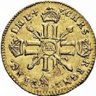 Photo numismatique  ARCHIVES VENTE 2015 -26-28 oct -Coll Jean Teitgen ATELIER ROYAL DE METZ LOUIS XIV (14 mai 1643-1er septembre 1715)  892- 1/2 louis d'or aux huit L et aux insignes, Metz 1701.