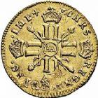 Photo numismatique  ARCHIVES VENTE 2015 -26-28 oct -Coll Jean Teitgen ATELIER ROYAL DE METZ LOUIS XIV (14 mai 1643-1er septembre 1715)  892- 1/2 louis d'or aux huit L et aux insignes, Metz 1701.
