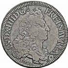 Photo numismatique  ARCHIVES VENTE 2015 -26-28 oct -Coll Jean Teitgen ATELIER ROYAL DE METZ LOUIS XIV (14 mai 1643-1er septembre 1715)  893- Écu aux huit L du 1er type, Metz (M couronnée) 1691.