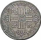 Photo numismatique  ARCHIVES VENTE 2015 -26-28 oct -Coll Jean Teitgen ATELIER ROYAL DE METZ LOUIS XIV (14 mai 1643-1er septembre 1715)  893- Écu aux huit L du 1er type, Metz (M couronnée) 1691.