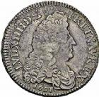 Photo numismatique  ARCHIVES VENTE 2015 -26-28 oct -Coll Jean Teitgen ATELIER ROYAL DE METZ LOUIS XIV (14 mai 1643-1er septembre 1715)  894- 1/2 écu aux huit L, Metz (M couronnée) 1691.