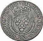Photo numismatique  ARCHIVES VENTE 2015 -26-28 oct -Coll Jean Teitgen ATELIER ROYAL DE METZ LOUIS XIV (14 mai 1643-1er septembre 1715)  897- Écu aux palmes, Metz (AA) 1693.