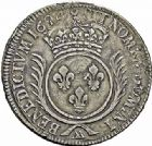 Photo numismatique  ARCHIVES VENTE 2015 -26-28 oct -Coll Jean Teitgen ATELIER ROYAL DE METZ LOUIS XIV (14 mai 1643-1er septembre 1715)  898- Écu aux palmes, Metz (AA) 1693.