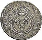 Photo numismatique  ARCHIVES VENTE 2015 -26-28 oct -Coll Jean Teitgen ATELIER ROYAL DE METZ LOUIS XIV (14 mai 1643-1er septembre 1715)  898- Écu aux palmes, Metz (AA) 1693.