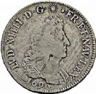 Photo numismatique  ARCHIVES VENTE 2015 -26-28 oct -Coll Jean Teitgen ATELIER ROYAL DE METZ LOUIS XIV (14 mai 1643-1er septembre 1715)  899- Écu aux palmes, Metz, 169( ?).