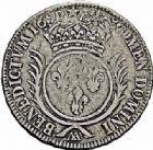 Photo numismatique  ARCHIVES VENTE 2015 -26-28 oct -Coll Jean Teitgen ATELIER ROYAL DE METZ LOUIS XIV (14 mai 1643-1er septembre 1715)  899- Écu aux palmes, Metz, 169(?).