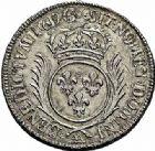Photo numismatique  ARCHIVES VENTE 2015 -26-28 oct -Coll Jean Teitgen ATELIER ROYAL DE METZ LOUIS XIV (14 mai 1643-1er septembre 1715)  900- 1/2 écu aux palmes, Metz (AA) 1694.