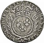 Photo numismatique  ARCHIVES VENTE 2015 -26-28 oct -Coll Jean Teitgen ATELIER ROYAL DE METZ LOUIS XIV (14 mai 1643-1er septembre 1715)  902- 1/12ème d'écu aux palmes, Metz 1694.