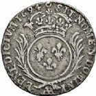 Photo numismatique  ARCHIVES VENTE 2015 -26-28 oct -Coll Jean Teitgen ATELIER ROYAL DE METZ LOUIS XIV (14 mai 1643-1er septembre 1715)  902- 1/12ème d'écu aux palmes, Metz 1694.