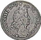Photo numismatique  ARCHIVES VENTE 2015 -26-28 oct -Coll Jean Teitgen ATELIER ROYAL DE METZ LOUIS XIV (14 mai 1643-1er septembre 1715)  903- Écu aux insignes, Metz 1701.