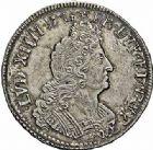 Photo numismatique  ARCHIVES VENTE 2015 -26-28 oct -Coll Jean Teitgen ATELIER ROYAL DE METZ LOUIS XIV (14 mai 1643-1er septembre 1715)  904- 1/2 écu aux insignes, Metz 1702.