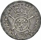 Photo numismatique  ARCHIVES VENTE 2015 -26-28 oct -Coll Jean Teitgen ATELIER ROYAL DE METZ LOUIS XIV (14 mai 1643-1er septembre 1715)  905- 1/12ème d'écu aux insignes, Metz 1702.