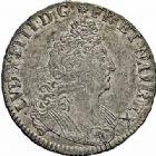 Photo numismatique  ARCHIVES VENTE 2015 -26-28 oct -Coll Jean Teitgen ATELIER ROYAL DE METZ LOUIS XIV (14 mai 1643-1er septembre 1715)  907- 1/2 écu aux huit L, 2ème type, 1704.