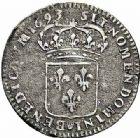 Photo numismatique  ARCHIVES VENTE 2015 -26-28 oct -Coll Jean Teitgen ATELIER ROYAL DE METZ LOUIS XIV (14 mai 1643-1er septembre 1715)  910- Quinzain aux 8 L, Metz (M couronnée) 1693.