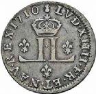 Photo numismatique  ARCHIVES VENTE 2015 -26-28 oct -Coll Jean Teitgen ATELIER ROYAL DE METZ LOUIS XIV (14 mai 1643-1er septembre 1715)  911- XXX deniers et XV deniers, pièces dites «des mousquetaires», Metz (AA) 1710, 1711.