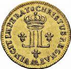 Photo numismatique  ARCHIVES VENTE 2015 -26-28 oct -Coll Jean Teitgen ATELIER ROYAL DE METZ LOUIS XV (1715-1774)  916- Louis d'or aux deux L, Metz 1721.