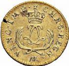 Photo numismatique  ARCHIVES VENTE 2015 -26-28 oct -Coll Jean Teitgen ATELIER ROYAL DE METZ LOUIS XV (1715-1774)  917- Louis d'or dit «Mirliton» aux palmes courtes, Metz 1723.