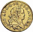 Photo numismatique  ARCHIVES VENTE 2015 -26-28 oct -Coll Jean Teitgen ATELIER ROYAL DE METZ LOUIS XV (1715-1774)  918- Louis d'or dit «Mirliton» aux palmes longues, Metz 1725.
