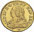 Photo numismatique  ARCHIVES VENTE 2015 -26-28 oct -Coll Jean Teitgen ATELIER ROYAL DE METZ LOUIS XV (1715-1774)  919- Louis d'or aux lunettes, Metz 1733.