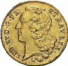 Photo numismatique  ARCHIVES VENTE 2015 -26-28 oct -Coll Jean Teitgen ATELIER ROYAL DE METZ LOUIS XV (1715-1774)  920- Double louis d'or au bandeau, Metz 1766.