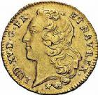Photo numismatique  ARCHIVES VENTE 2015 -26-28 oct -Coll Jean Teitgen ATELIER ROYAL DE METZ LOUIS XV (1715-1774)  920- Double louis d'or au bandeau, Metz 1766.