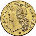 Photo numismatique  ARCHIVES VENTE 2015 -26-28 oct -Coll Jean Teitgen ATELIER ROYAL DE METZ LOUIS XV (1715-1774)  921- Louis d'or au bandeau, Metz 1744.