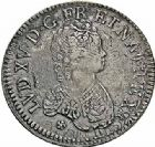 Photo numismatique  ARCHIVES VENTE 2015 -26-28 oct -Coll Jean Teitgen ATELIER ROYAL DE METZ LOUIS XV (1715-1774)  922- Écu dit « vertugadin », Metz 1716.