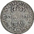 Photo numismatique  ARCHIVES VENTE 2015 -26-28 oct -Coll Jean Teitgen ATELIER ROYAL DE METZ LOUIS XV (1715-1774)  927- 20 sols de Navarre, Metz 1719.