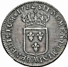 Photo numismatique  ARCHIVES VENTE 2015 -26-28 oct -Coll Jean Teitgen ATELIER ROYAL DE METZ LOUIS XV (1715-1774)  930- 1/3 d'écu de France, Metz 1722.