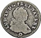 Photo numismatique  ARCHIVES VENTE 2015 -26-28 oct -Coll Jean Teitgen ATELIER ROYAL DE METZ LOUIS XV (1715-1774)  934- 1/16ème d'écu aux huit L, Metz 1725.