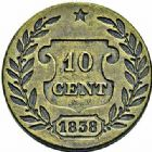 Photo numismatique  ARCHIVES VENTE 2015 -26-28 oct -Coll Jean Teitgen MONNAIES MODERNES MESSINES LOUIS-PHILIPPE Ier (9 août 1830-24 février 1848)  974- Essai bimétallique 10 centimes 1838.