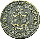 Photo numismatique  ARCHIVES VENTE 2015 -26-28 oct -Coll Jean Teitgen JETONS ET MEDAILLES MESSINS MAITRES ECHEVINS  975- Jeton de Nicolas Auburtin, échevin-trésorier, 1652.