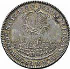 Photo numismatique  ARCHIVES VENTE 2015 -26-28 oct -Coll Jean Teitgen JETONS ET MÉDAILLES MESSINS MAITRES ECHEVINS  985- Jeton de Pierre de Rissan, 1700.