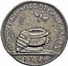Photo numismatique  ARCHIVES VENTE 2015 -26-28 oct -Coll Jean Teitgen JETONS ET MÉDAILLES MESSINS MAITRES ECHEVINS  986- Jeton d'argent pour le baptême de Casimir de Caumartin, 1754.