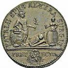 Photo numismatique  ARCHIVES VENTE 2015 -26-28 oct -Coll Jean Teitgen JETONS ET MEDAILLES MESSINS MAITRES ECHEVINS  987- Jeton de cuivre pour le baptême de Casimir de Caumartin, 1754.