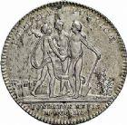Photo numismatique  ARCHIVES VENTE 2015 -26-28 oct -Coll Jean Teitgen JETONS ET MEDAILLES MESSINS ACADEMIE DE METZ  988- Jetons de présence, 1760 (2).