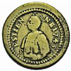 Photo numismatique  ARCHIVES VENTE 2015 -26-28 oct -Coll Jean Teitgen JETONS ET MÉDAILLES MESSINS CORPORATIONS  991- Méreau de P.Calme 1757.