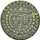 Photo numismatique  ARCHIVES VENTE 2015 -26-28 oct -Coll Jean Teitgen JETONS ET MÉDAILLES MESSINS ROIS DE FRANCE HENRI IV (1589-1610). 994- Jeton, 1600.