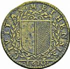 Photo numismatique  ARCHIVES VENTE 2015 -26-28 oct -Coll Jean Teitgen JETONS ET MEDAILLES MESSINS ROIS DE FRANCE HENRI IV (1589-1610). 996- Jeton, 1610.