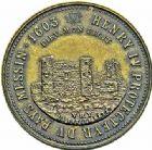 Photo numismatique  ARCHIVES VENTE 2015 -26-28 oct -Coll Jean Teitgen JETONS ET MEDAILLES MESSINS MEDAILLES HENRI IV (1589-1610) 1005- Hommage à Androuin Roucel, maître-échevin en 1525.