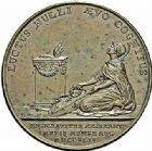 Photo numismatique  ARCHIVES VENTE 2015 -26-28 oct -Coll Jean Teitgen JETONS ET MÉDAILLES MESSINS MEDAILLES LOUIS XV (1715-1774) 1007- Déclaration de la maladie du roi le 7 août 1744 à Metz.