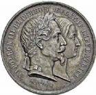 Photo numismatique  ARCHIVES VENTE 2015 -26-28 oct -Coll Jean Teitgen JETONS ET MEDAILLES MESSINS MEDAILLES NAPOLÉON III (1852-1870) 1012- Exposition universelle, Metz 1861.