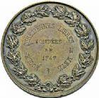 Photo numismatique  ARCHIVES VENTE 2015 -26-28 oct -Coll Jean Teitgen JETONS ET MEDAILLES MESSINS MEDAILLES NAPOLÉON III (1852-1870) 1015- Écoles Chrétiennes et Académie des Sciences en 1747, prix 1863.