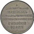 Photo numismatique  ARCHIVES VENTE 2015 -26-28 oct -Coll Jean Teitgen JETONS ET MEDAILLES MESSINS ANNEXION DE L'ALSACE--LORRAINE (1871-1918)  1018- Laurent Maréchal, peintre (1801-1887).