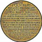Photo numismatique  ARCHIVES VENTE 2015 -26-28 oct -Coll Jean Teitgen JETONS ET MEDAILLES MESSINS ANNEXION DE L'ALSACE--LORRAINE (1871-1918)  1019- Charles Robert de l'Institut (1812-1887).