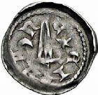 Photo numismatique  ARCHIVES VENTE 2015 -26-28 oct -Coll Jean Teitgen DUCHE DE LORRAINE FERRI III (1251-1303)  1048- Denier avec croissant et étoile, Nancy.