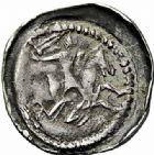 Photo numismatique  ARCHIVES VENTE 2015 -26-28 oct -Coll Jean Teitgen DUCHE DE LORRAINE FERRI III (1251-1303)  1051- Denier avec écu aux armes inversées, Nancy.